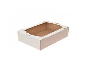 Коробка для капкейков, печенья, конфет, шоколада, 280х180х100 мм