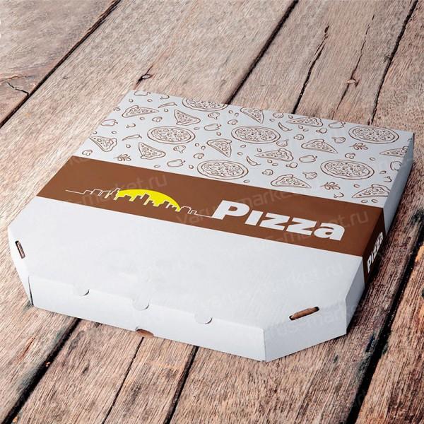Эоробка для пирога, белая, бурая