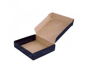 """Черная самосборная коробка """"Самолет"""" из картона"""
