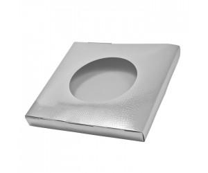 Картонная квадратная коробка под тарелку с окном