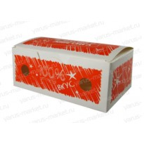 Коробка для наггетсов, красная, оранжевая
