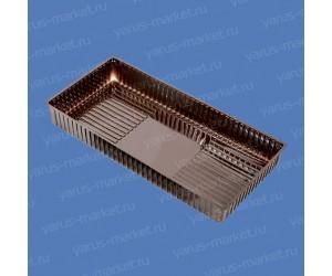 Коррекс ИП-15 из ПЭТ, коричневый, для упаковки пирожных, конфет