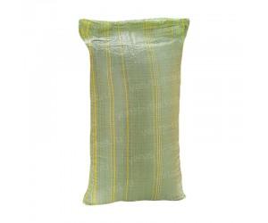 Зеленый полипропиленовый мешок с полосками