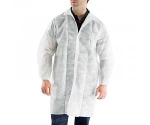 Халат, одноразовый, для упаковки и фасовки, размеры L-XXL