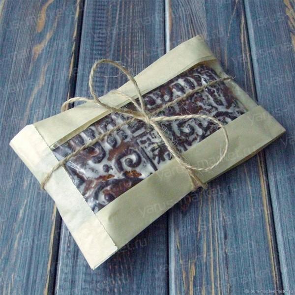 Бумажный крафт-пакет с окном из крафтбумаги В