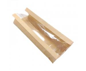 Бумажный пакет с окном из крафт бумаги В