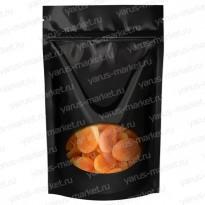 Пакет дой-пак с прозрачным окошком для сыпучих продуктов, черный