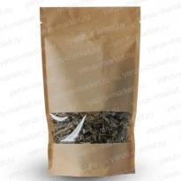 Бумажный дой-пак с прямоугольным окошком для сыпучей продукции