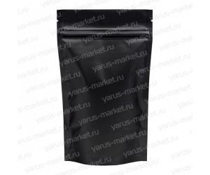 Дой-пак п/э с zip-lock, 130×160×30мм, фольгированный, черный
