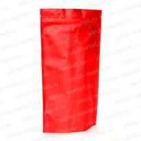 Дой-пак с zip-замком и клапаном, красный, 13,5×20см