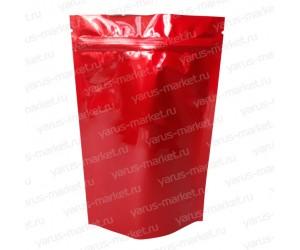 Красный металлизированный дой-пак с зиплоком