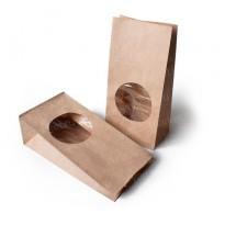 Ламинированный крафт-пакет с круглым окном