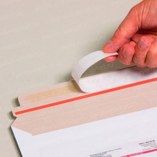 Курьерский картонный конверт с карманом для вложения