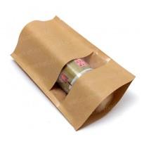 Крафт пакет дой-пак для колбасы с окном