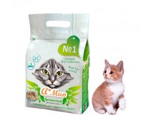 Гассет-пакет с овальной ручкой для кошачьего наполнителя