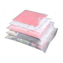 Матовые пакеты для одежды из ПВД и ПВХ с зип-лок и бегунком