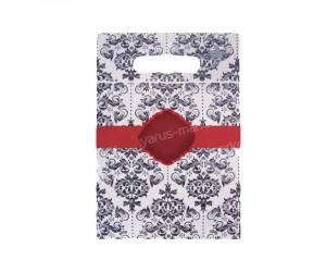 Гриппер пакет для одежды с печатью и прорубной ручкой