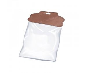 Фигурный бумажный хеддер для варежек с европодвесом и пакетом