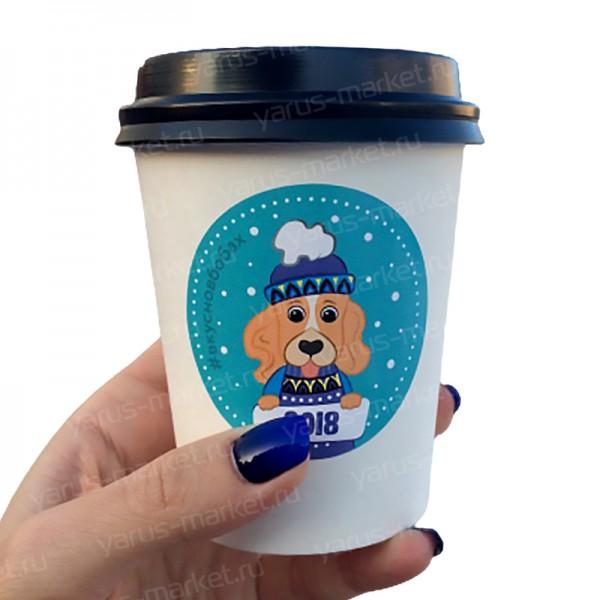 Наклейки на бумажные стаканчики для кофе