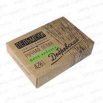 Картонная крафт-упаковка для пельменей, 170× 35×170 мм, бурая