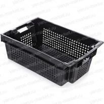 Пластиковый ящик, 800х400х225 мм., для рыбы и колбасы, комбинированный