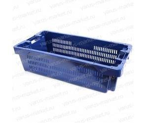 Пластиковый ящик, 800х400х225 мм., для замороженной рыбы