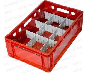 Пластиковый ящик, 600x400x200 мм., для бутылок/мелких товаров