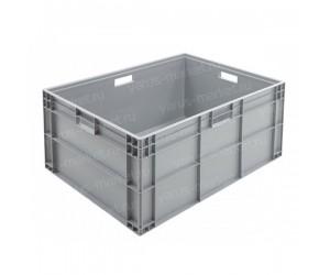 Серый пластиковый ящик 800х600х345 универсальный