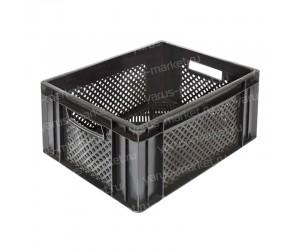 Пластиковый ящик, 400х300х180 мм., с сплошным дном