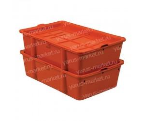 Пластиковый ящик, 502х332х150 мм., для сырков, красный