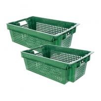 Пластиковый ящик, 600х400х200 мм., с перфорацией, для грибов, зелени