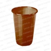 Пластиковый стакан, коричневый, черный, 180 мл