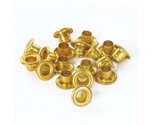 Люверсы d4,8mm (золотые)