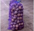 Сетка овощная с ручкой, 25х39 см., 5 кг, красная, зеленая, фиолетовая
