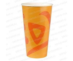 Бумажные стаканчики, 400 мл, с логотипом, двухслойные