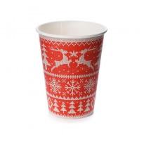 Стакан бумажный для горячих напитков с принтом