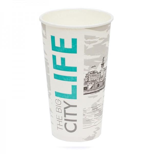 Бумажный стакан с логотипом, 500 мл