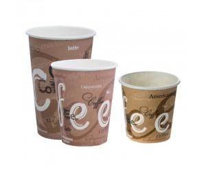 Стакан бумажный, однослойный, для кофе, 250мл, 500мл