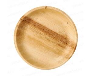 Тарелка круглая из пальмовых листьев 18-25 см