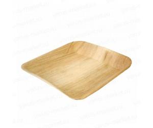 Тарелка квадратная из пальмовых листьев 20, 25 см
