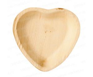 Пальмовое блюдо в форме сердца