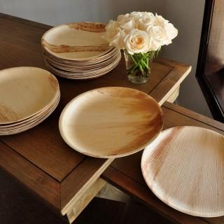 Посуда из пальмовых листьев