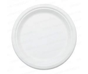 Тарелка круглая из сахарного тростника