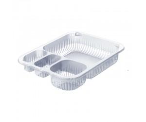 Контейнер ПП для готовых блюд на 4 секции