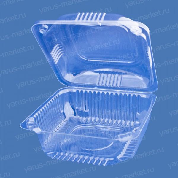 Пластиковая упаковка с откидной крышкой