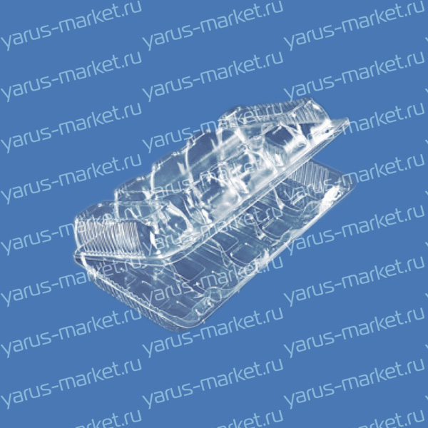 Пластиковая упаковка с несъемной крышкой для эклеров
