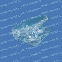 Пластиковая упаковка ИП-2Н из ПЭТ/ОПС для пирожных (4 шт.)