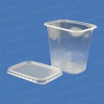 Пластиковый контейнер ПП c крышкой из ПЭТ