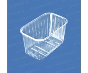 Пластиковый контейнер ПР-КФ-110 из ПЭТ, для хранения салатов, грибов, ягод