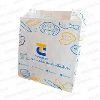 Пакет бумажный для булочек, 210×140×60мм, с печатью
